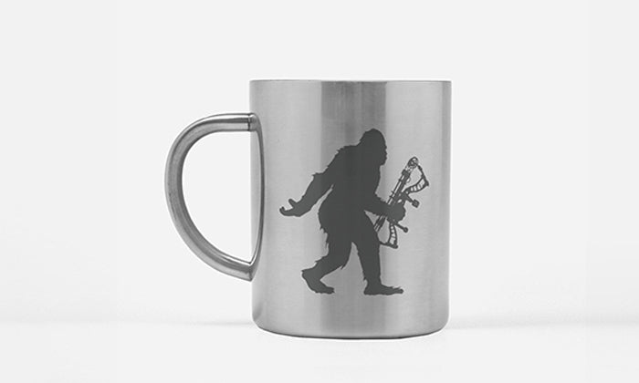 Sasquatch Archery Hunting Coffee Mug