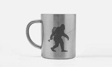Sasquatch Fly Fishing Coffee Mug