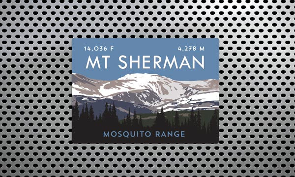 Mount Sherman Colorado 14er Magnet