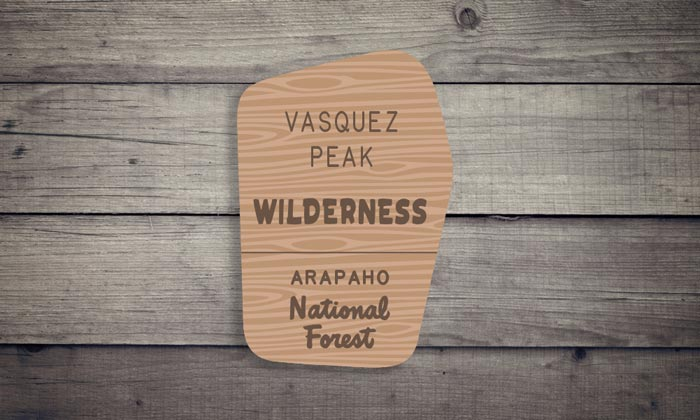 Vasquez Peak Wilderness Sticker