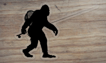 Sasquatch Fly Fishing Die Cut Sticker