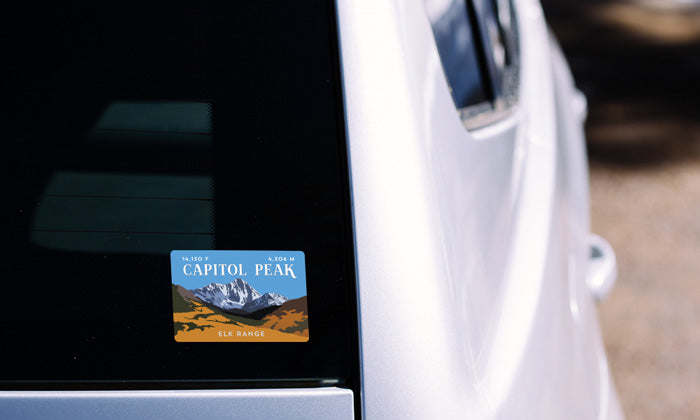 Capitol Peak Colorado 14er Sticker