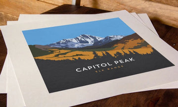 Capitol Peak Colorado 14er Print