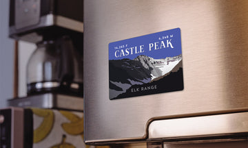 Castle Peak Colorado 14er Magnet