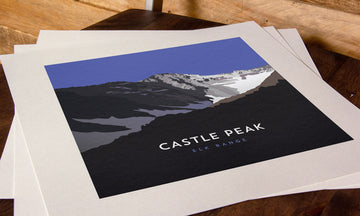 Castle Peak Colorado 14er Print
