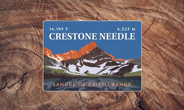 Crestone Needle Colorado 14er Sticker