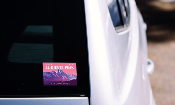 El Diente Peak Colorado 14er Sticker