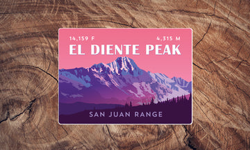 San Juan Range Colorado 14er Sticker Pack
