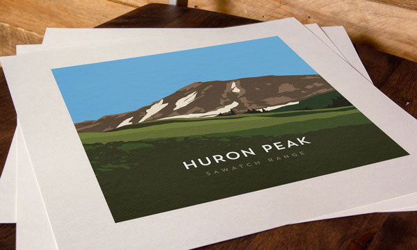 Huron Peak Colorado 14er Print