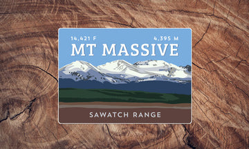 Mount Massive Colorado 14er Sticker
