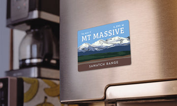 Mount Massive Colorado 14er Magnet