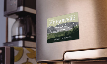 Mount Harvard Colorado 14er Magnet