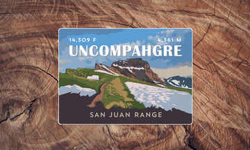 Uncompahgre Peak Colorado 14er Sticker