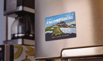 Uncompahgre Peak Colorado 14er Magnet
