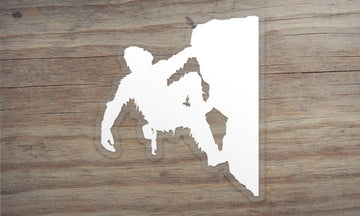 Sasquatch Rock Climbing Die Cut Sticker