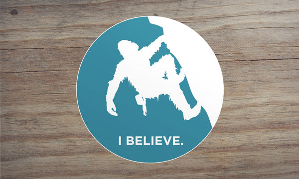 Sasquatch Rock Climbing Sticker