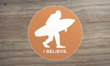 Sasquatch Surfing Sticker