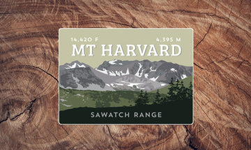 Mount Harvard Colorado 14er Sticker