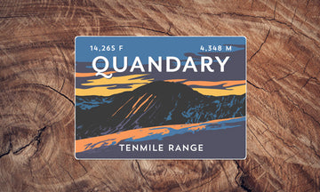 Quandary Peak Colorado 14er Sticker