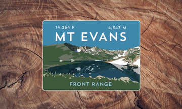 Mount Evans Colorado 14er Sticker