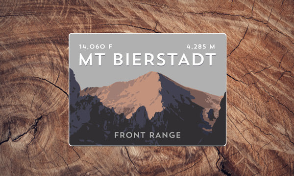 Mount Bierstadt Sawtooth Ridge Colorado 14er Sticker