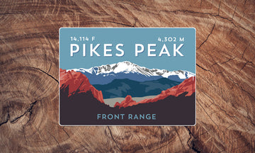 Pikes Peak Colorado 14er Sticker