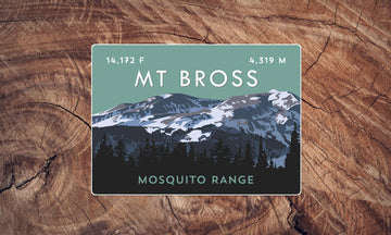 Mount Bross Colorado 14er Sticker