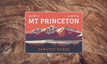 Mount Princeton Colorado 14er Sticker