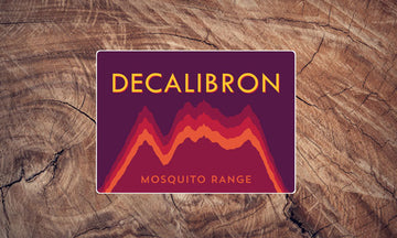 Decalibron Elevation Graph Colorado 14er Sticker