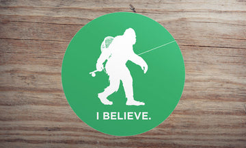 Sasquatch Fly Fishing Sticker
