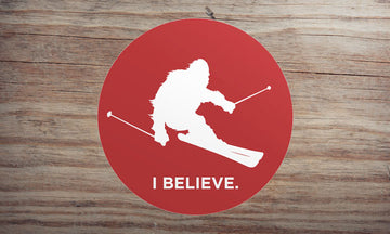 Sasquatch Skiing Sticker