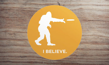 Sasquatch Frisbee Sticker