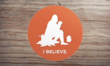 Sasquatch at Camp Sticker