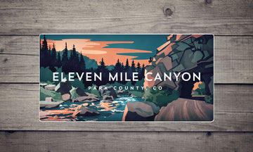 Eleven Mile Canyon Colorado River Sticker