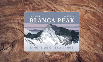 Blanca Peak Colorado 14er Sticker