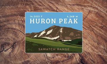 Huron Peak Colorado 14er Sticker