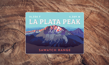 La Plata Peak Colorado 14er Sticker