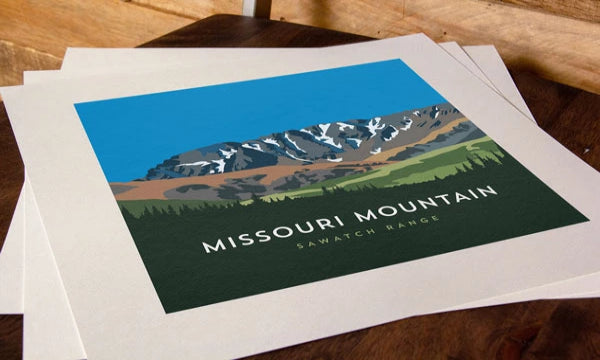 Missouri Mountain Colorado 14er Print