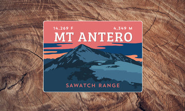 Mount Antero Colorado 14er Sticker