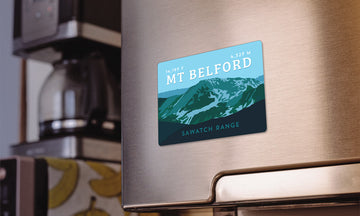Mount Belford Colorado 14er Magnet