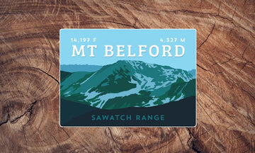 Mount Belford Colorado 14er Sticker