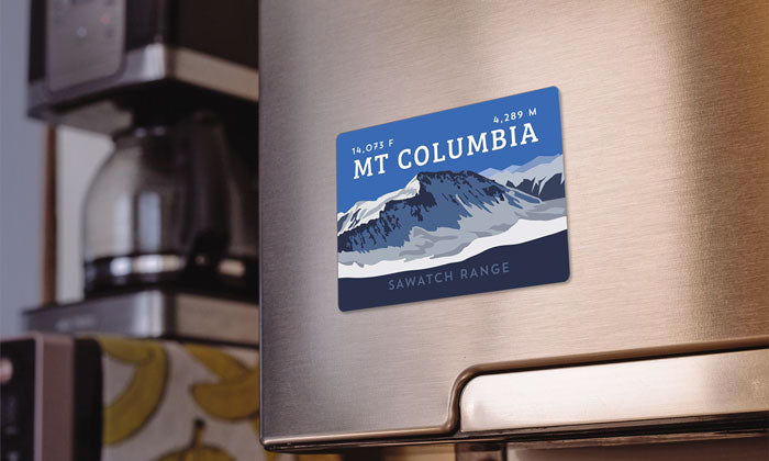 Mount Columbia Colorado 14er Magnet