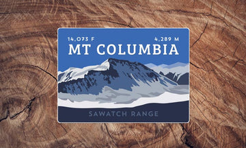 Mount Columbia Colorado 14er Sticker