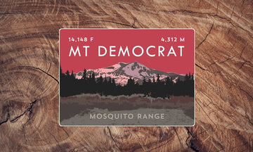 Mosquito Range Colorado 14er Sticker Pack