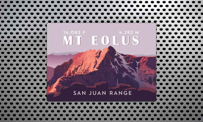 Mount Eolus Colorado 14er Magnet