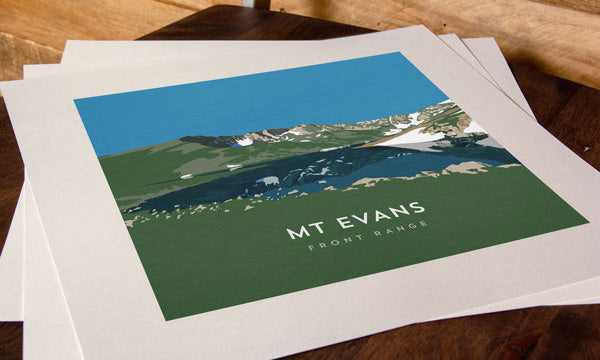 Mount Evans Colorado 14er Print