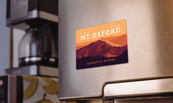 Mount Oxford Colorado 14er Magnet