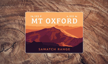 Mount Oxford Colorado 14er Sticker