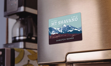 Mount Shavano Colorado 14er Magnet