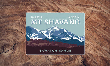 Mount Shavano Colorado 14er Sticker